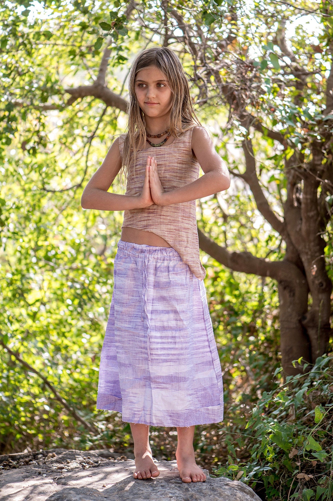 Earth fairy Girls Skirt ~ Khadi Cotton