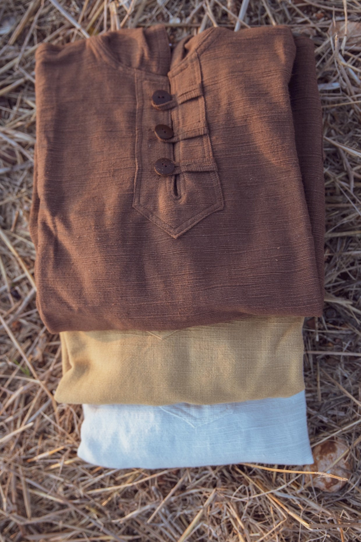 Pullover with Hoodie ~ Natural khadi cotton