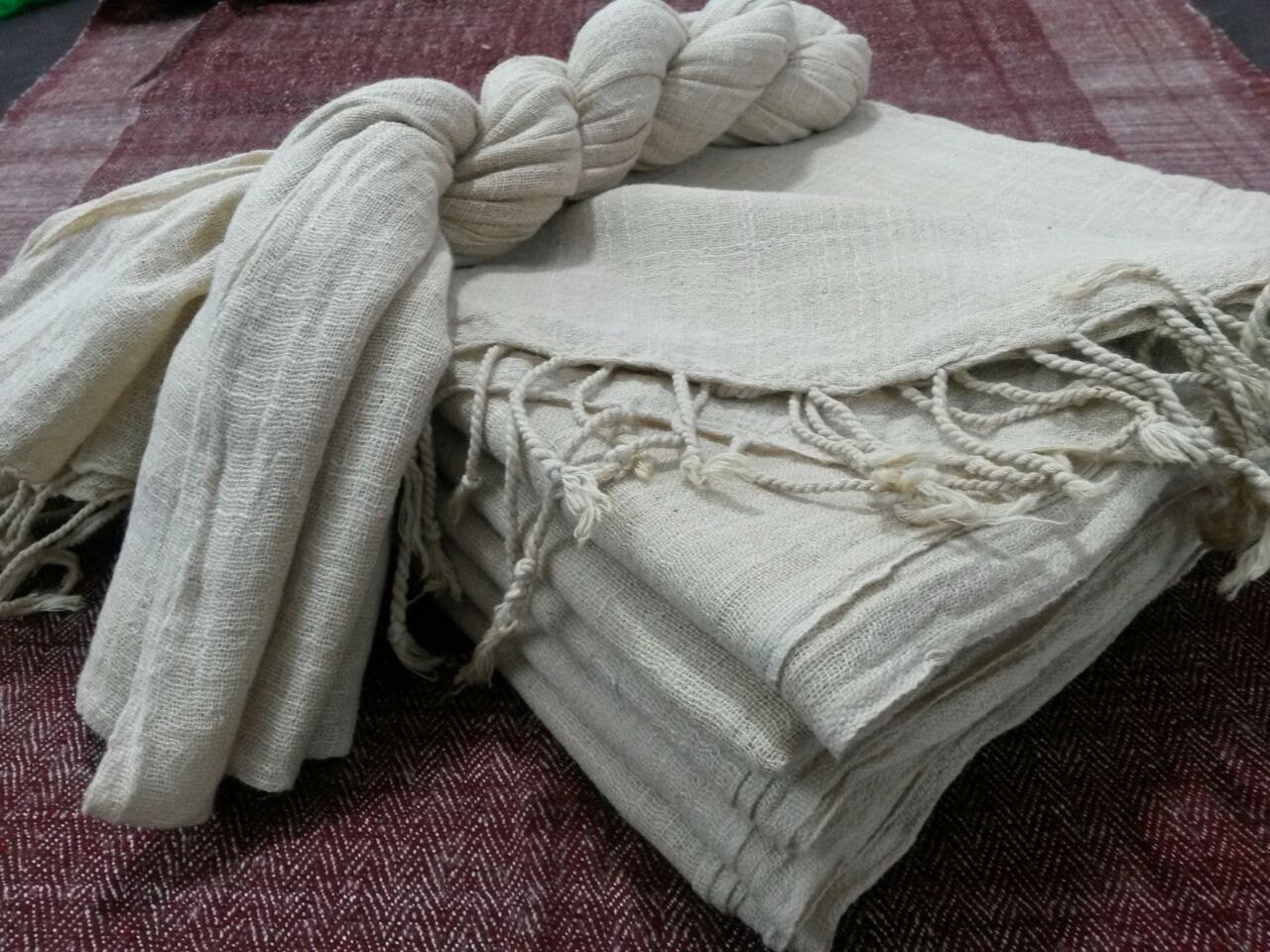 Natural Cotton Scarf ~