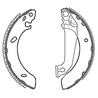 Brake Shoes - Ford Escourt, Bantam Rocam