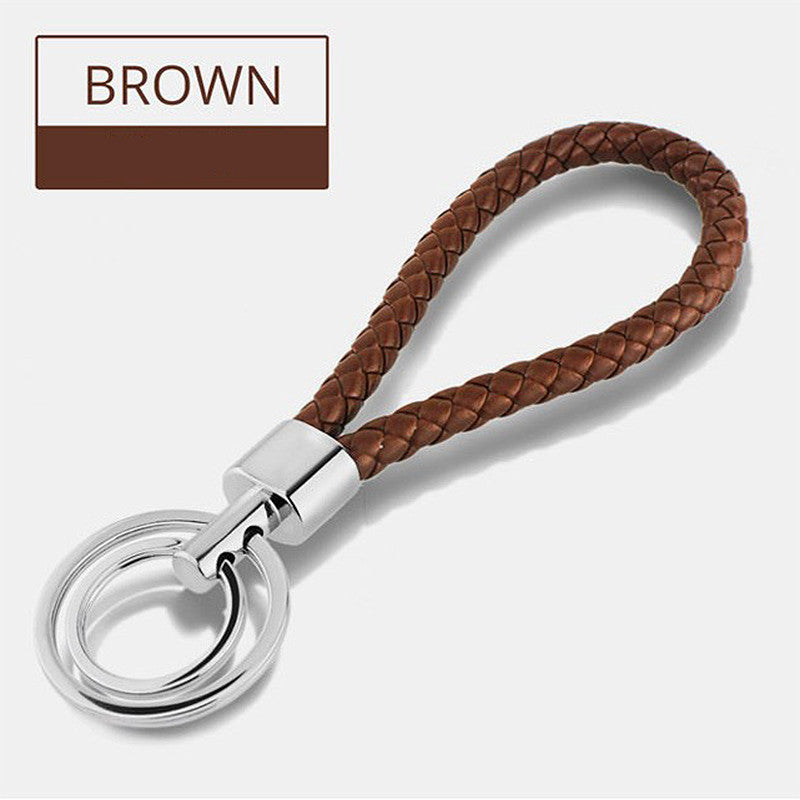 BRAIDED LEATHER KEY CHAIN (15 colors) **Free Just Pay Shipping**