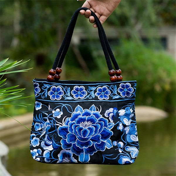 BOHO MANDALA FLOWER SHOULDER HANDBAG