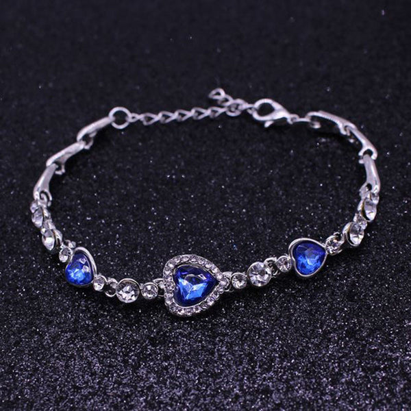 HIGH CRYSTAL OCEAN HEART BRACELET