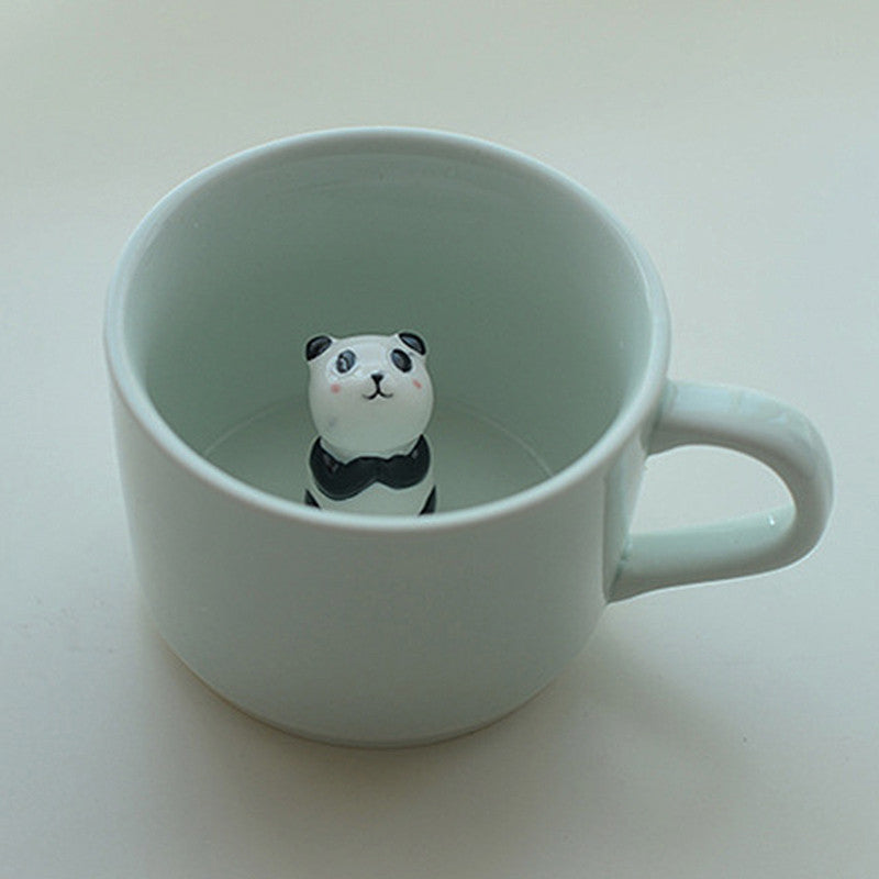CUTE CARTOON CERAMIC MUGS CREATIVE