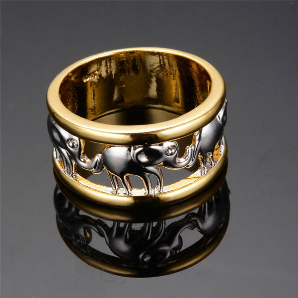 GOLD PLATED ELEPHANT RING**50% OFF**