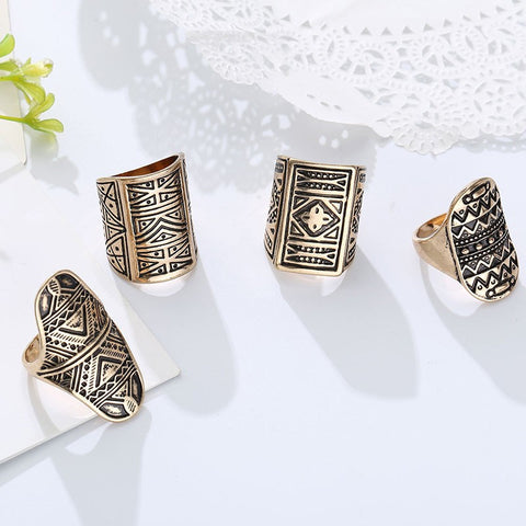 NEW BOHEMIAN RING (SET 4 UNIDS)***50% OFF**