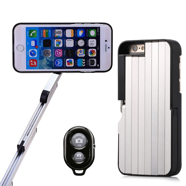 2-IN-1 BLUETOOTH PHONE CASE SELFIE  STICK FOR iPhone 7 4.7""
