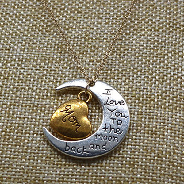 MOON AND HEART PENDANT