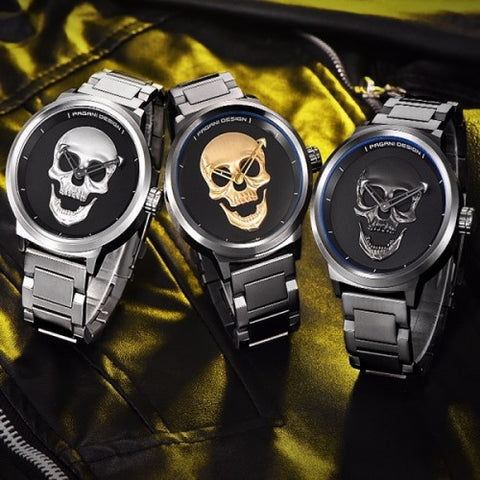 WATER RESISTANT SKULL LUXURY WATCH