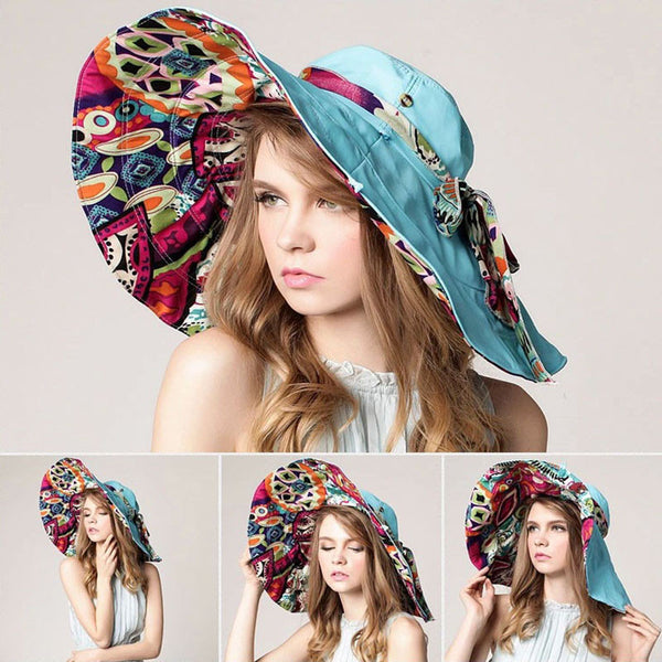 FOLDING SUMMER HAT WITH PROTECTION