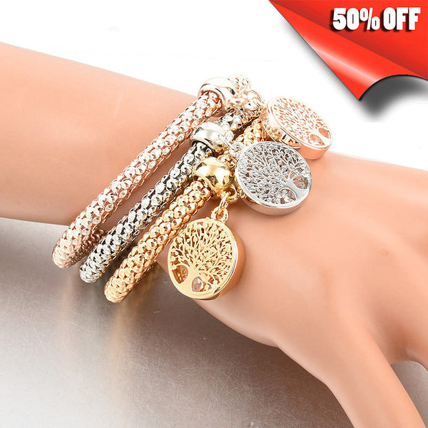 """TREE OF LIFE"" BRACELET WITH AUSTRIAN CRYSTALS 3pcs (15 different models)"