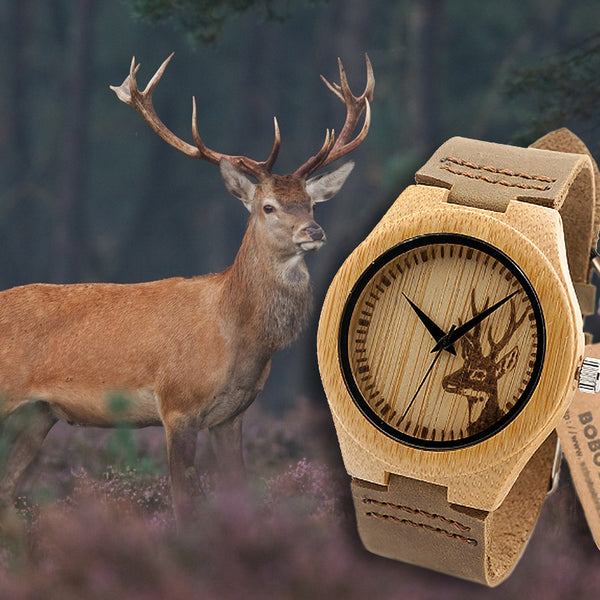 BAMBOO WOOD WATCH / DEER SPAIN