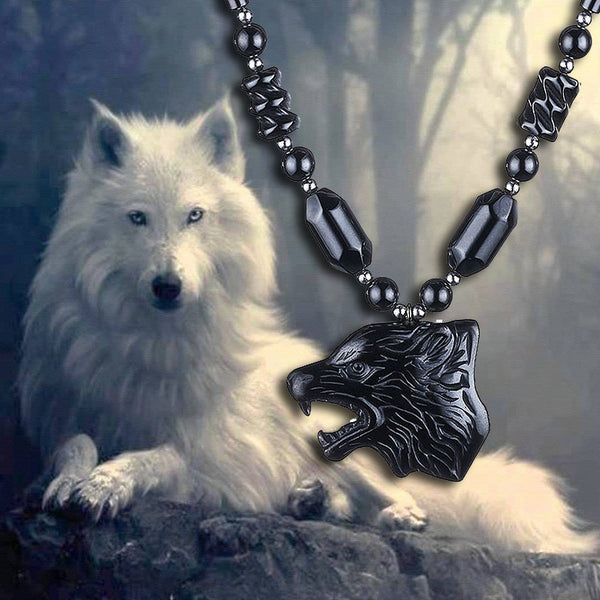VIKING WOLF HEAD NECKLACE