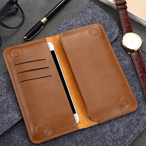 LEATHER WALLET FOR SAMSUNG IPHONE AND GALAXY