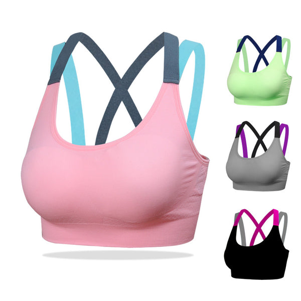 FITNESS YOGA PUSH UP SPORTS BRA **50% OFF**