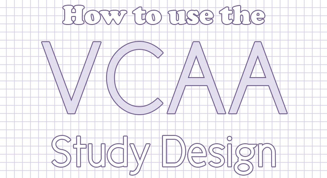 How to use the VCAA Study Design for your Mathematics subject