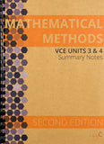 Mathematical Methods Units 3&4 Summary Notes - SECOND EDITION