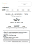 2020 Mathematical Methods Unit 2 Exams