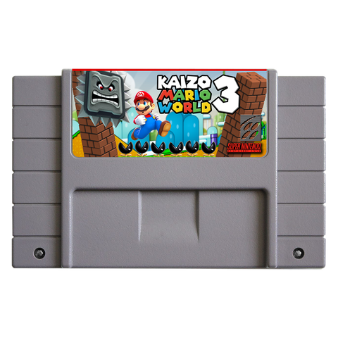 Super Nintendo Kaizo Mario World 3 Cartridge