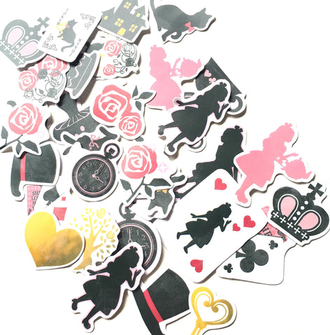 Alice in wonderland cute sticker flakes