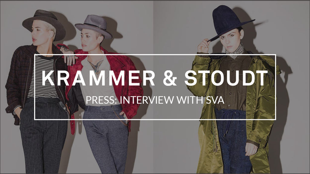 "SVA Highlights and Tells the Krammer & Stoudt Story: ""The Creative Minds—and SVA Alumnus—Behind Menswear Darling Krammer & Stoudt"""