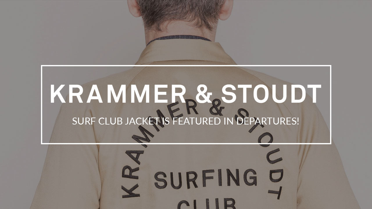 Back by popular demand, the Surf Club jacket as featured in Departures Magazine!