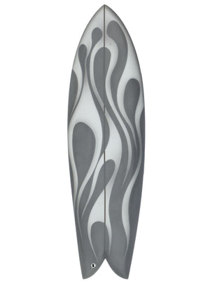 Airbrushed S-Curve Fish Surfboard