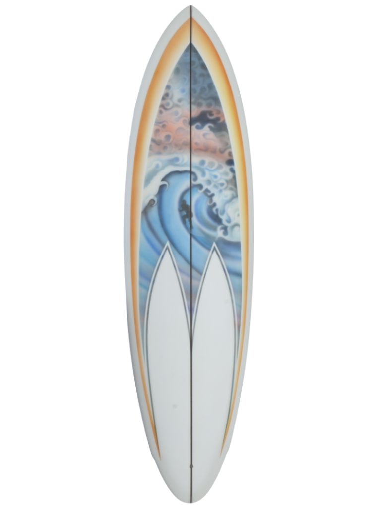 Airbrushed GTB surfboard
