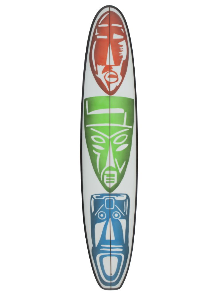 Airbrushed Plank surfboard