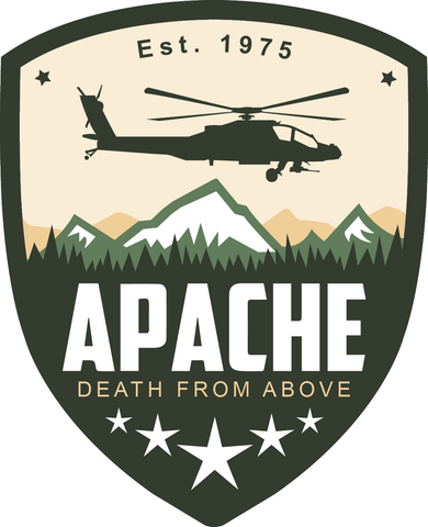 Apache Crest Sticker