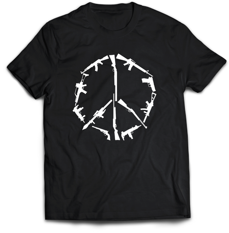 Peace Through Superior Firepower Black Tee