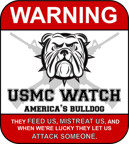USMC Watch Sticker