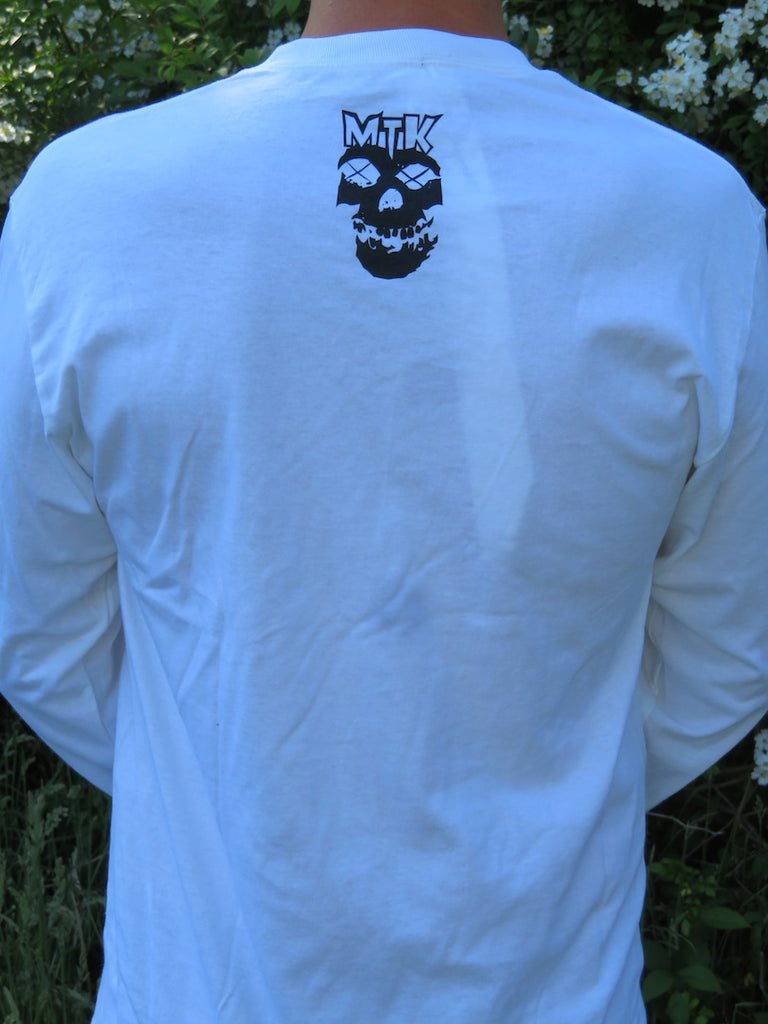 Long Sleeve White Metal T-Shirt