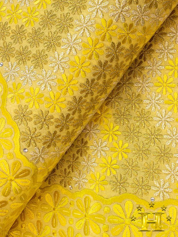 FS310 Stunning Fine Swiss Lace - GY - Golden Yellow