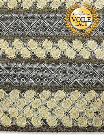 High Quality Jacquard Voile Lace - JVL210