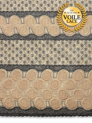 High Quality Jacquard Voile Lace - JVL212