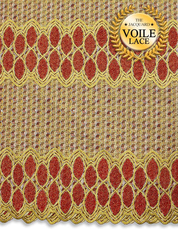 High Quality Jacquard Voile Lace - JVL214