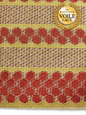High Quality Jacquard Voile Lace - JVL215