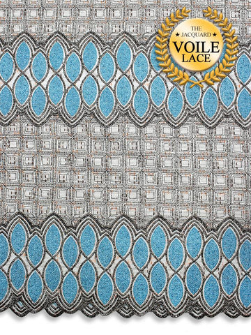 High Quality Jacquard Voile Lace - JVL219