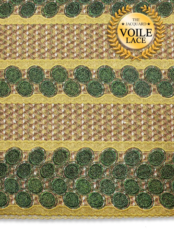 High Quality Jacquard Voile Lace - JVL224