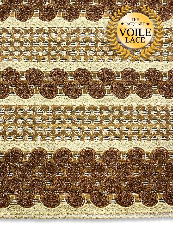 High Quality Jacquard Voile Lace - JVL226