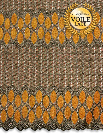 High Quality Jacquard Voile Lace - JVL227