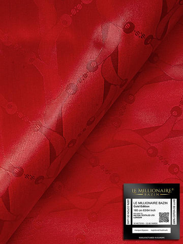Le Millionaire Brocade - 5 Meters - Berry Red - LMBB303