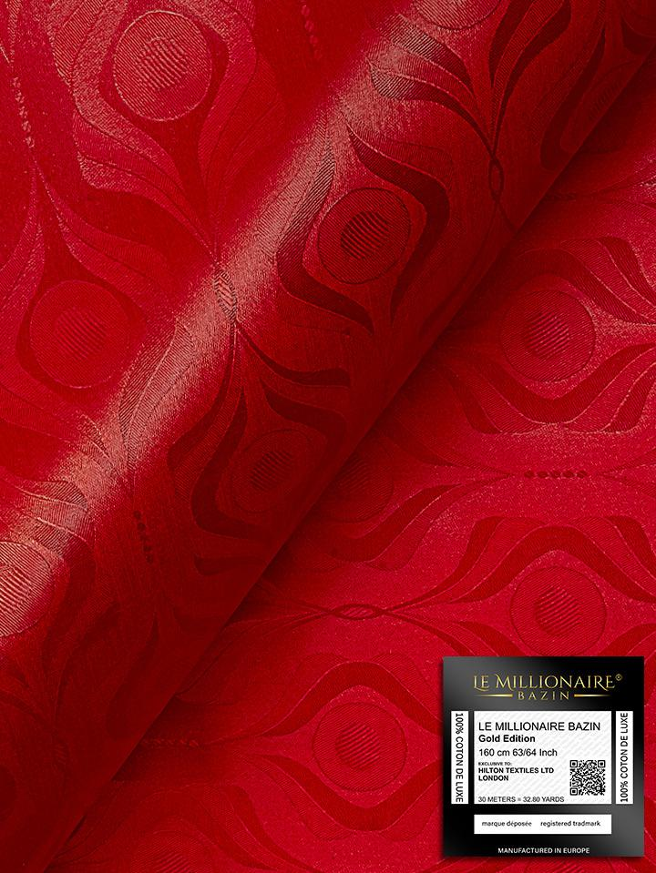 Le Millionaire Brocade - 5 Meters - Berry Red - LMBB304