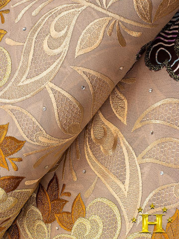 PSLV100 Platinum Vlisco Patchwork Swiss Lace - Handmade & Rare Lace