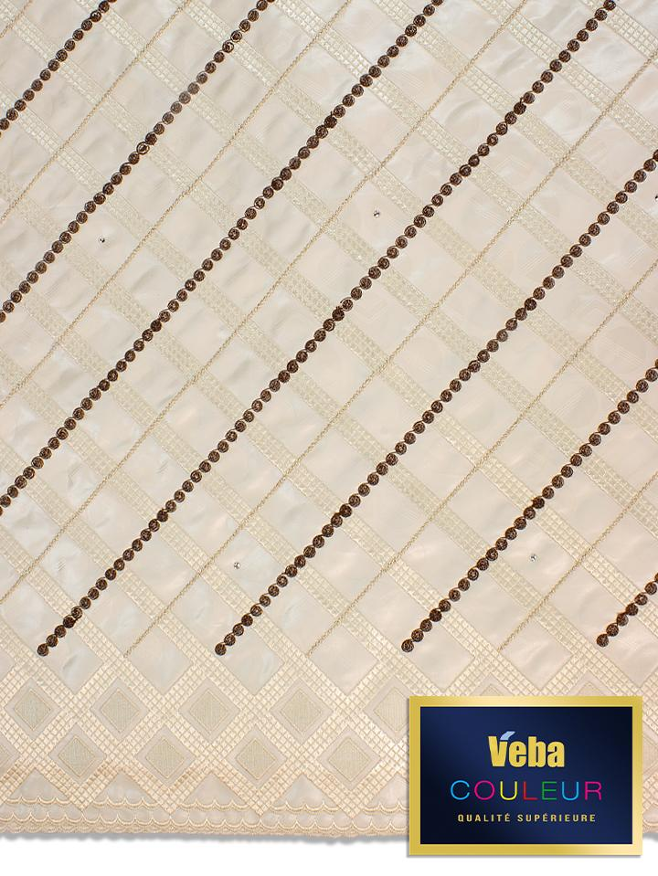 Veba Couleur Brocade Lace in 5 Yards VCBL0100 - NEW!