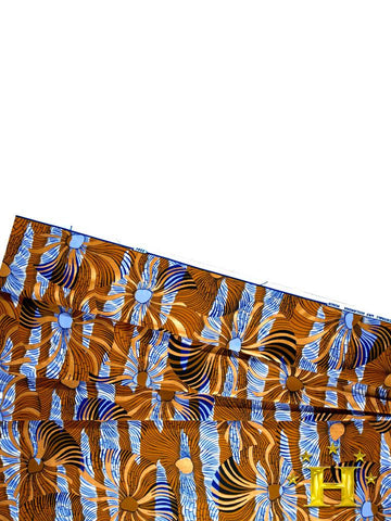 Vlisco Cotton Satin Gold Embellished VLCS442  -  NEW!