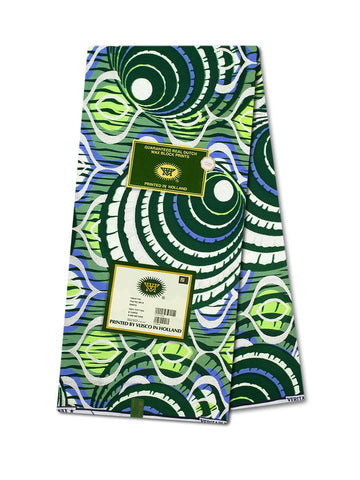 Vlisco Cotton Satin Gold Embellished VLCS450  -  NEW!
