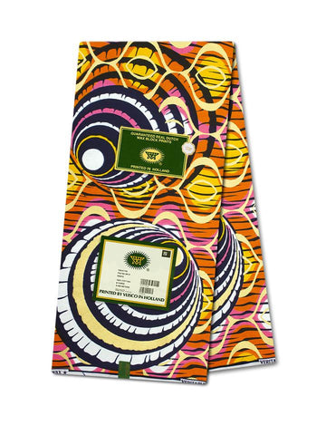 Vlisco Cotton Satin Gold Embellished VLCS451  -  NEW!