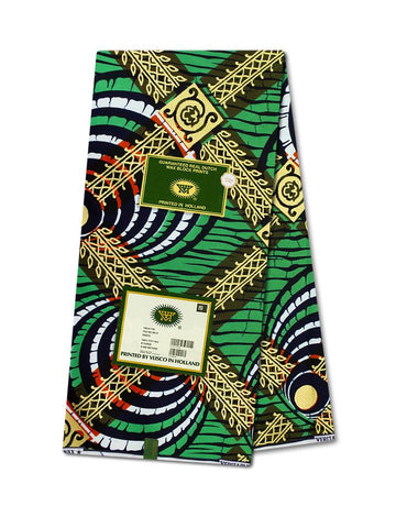 Vlisco Cotton Satin Gold Embellished VLCS453  -  NEW!